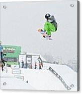 Kelly Clark Womens U S Snow Boarding Open 2011 Acrylic Print