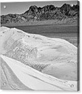 Kelso Sand Dunes 2 Bw Acrylic Print