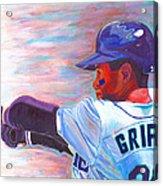 Ken Griffey Jr Acrylic Print by Jeff Gomez