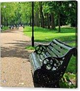 Kensington Park Bench Acrylic Print