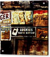 Kentucky Shed Ad Signs Acrylic Print