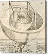 Kepler's Cosmological Model, Artwork Acrylic Print by Humanities And Social Sciences Libraryrare Books Divisionnew York Public Libraryscience Photo