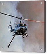 Kern County Fire Copter #408 Acrylic Print