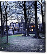 Kew Park At Dusk Acrylic Print