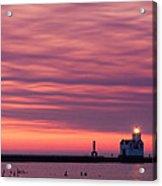 Kewaunee Lighthouse At Sunrise Acrylic Print