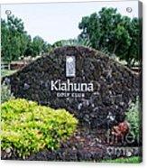Kiahuna Golf Club Acrylic Print