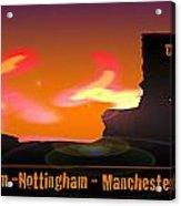 Kid Monsta And The England Riots Acrylic Print