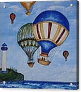 Kid's Art- Balloon Ride Acrylic Print