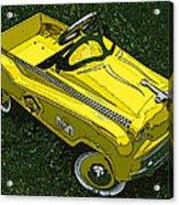 Kid's Pedal Car Taxi Acrylic Print by Samuel Sheats