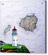 Kilauea Point Lighthouse On Noaa Chart Acrylic Print