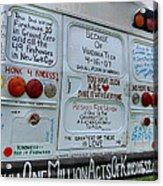 Kindness Bus 3 Acrylic Print