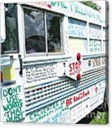 Kindness Bus 8 Acrylic Print