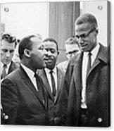 King And Malcolm X, 1964 Acrylic Print