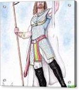 King Arthur Acrylic Print by Fabio Lion
