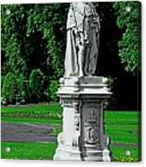 King Edward Vii Statue - Lichfield Acrylic Print