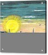 King Harbor At Sunset Acrylic Print