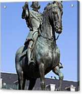 King Philip IIi Statue In Madrid Acrylic Print