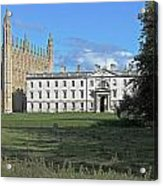 Kings College Chapel And The Gibbs Building Acrylic Print