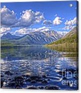 Kintla Lake Pebbles Acrylic Print