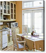 Kitchen Cabinets And Table Acrylic Print