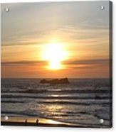 Kite Flying At Sundown Acrylic Print