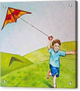 Kite Flying Fun Acrylic Print