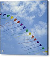 Kites Fly In A Rainbow Of Colors Acrylic Print