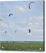 Kites Over The Bay Acrylic Print