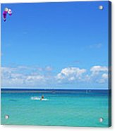 Kitesurfing In Kauai Acrylic Print