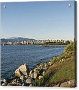 Kitsilano Beach And Vancouver Skyline Acrylic Print