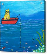 Kittyboy Goes Deep Sea Fishing Acrylic Print