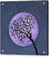 Kittyboy Moon Acrylic Print