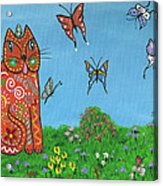 Kittyboy's Butterflies Acrylic Print