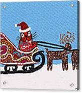 Kityboy Helps Santa Acrylic Print