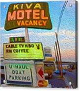Kiva Motel - Needles Ca Acrylic Print