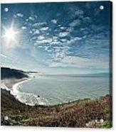 Klamath Overlook With Sun Acrylic Print