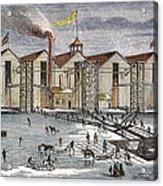Knickerbocker Ice Co.,  C1846 Acrylic Print