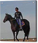 Knight Jockey Acrylic Print by PJQandFriends Photography