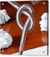 Knot On Pen Acrylic Print
