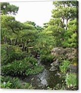 Kokoen Samurai Gardens - Himeji City Japan Acrylic Print by Daniel Hagerman
