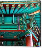 Korean Pagoda Detail Acrylic Print