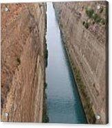 Korintski Kanal Acrylic Print