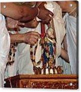 Krishna And Priests Acrylic Print