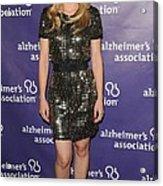 Kristen Bell Wearing A Dress By Sea Acrylic Print by Everett