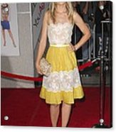Kristen Bell Wearing A Valentino Dress Acrylic Print