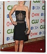 Kristen Bell Wearing A Versus Dress Acrylic Print by Everett