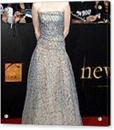 Kristen Stewart Wearing An Oscar De La Acrylic Print