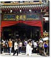 Kwan Im Tong Hood Cho Buddhist Temple In The Bugis Area In Singa Acrylic Print
