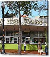 Kwik Way Drive-in Fast Food Restaurant . Oakland California . 7d13521 Acrylic Print by Wingsdomain Art and Photography