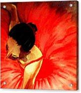 La Ballerine Rouge Dans Le Theatre Acrylic Print by Rusty Woodward Gladdish